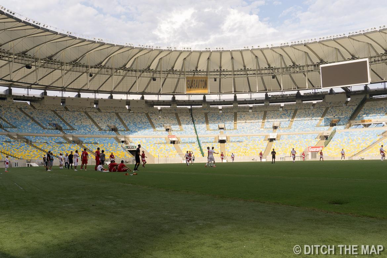 The Maracanã Soccer Stadium in Rio de Janeiro, Brazil