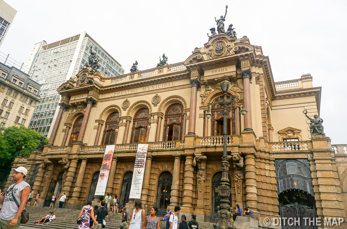 Municipal Theater in the downtown area of Sao Paulo, Brazil