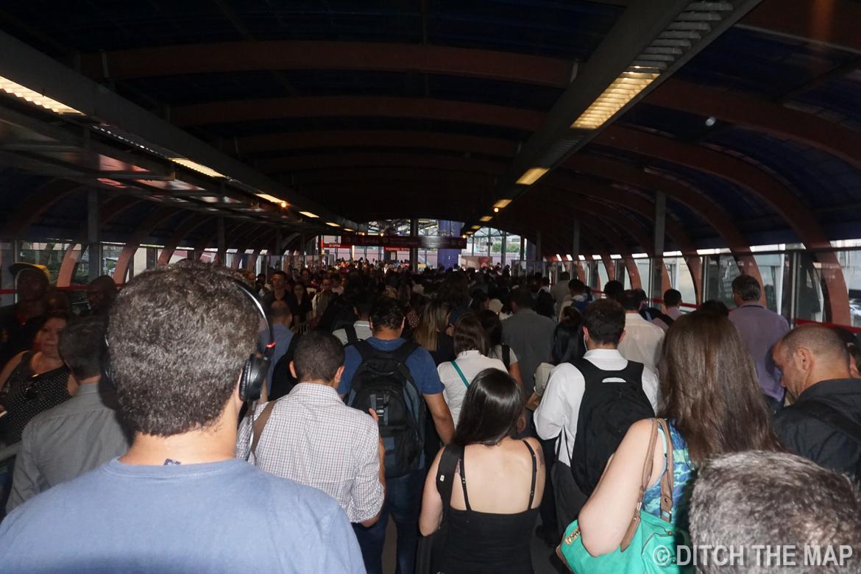 Metro Station in Sao Paulo, Brazil