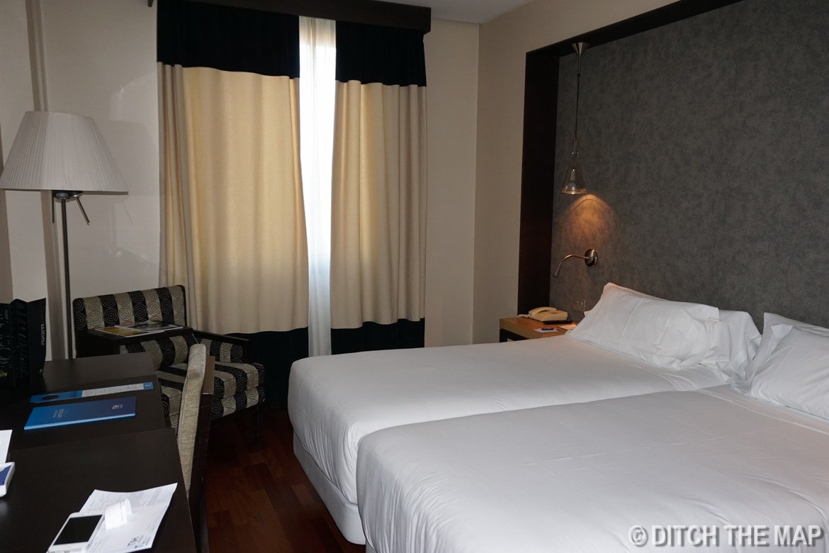 Our hotel room in Seville, Spain