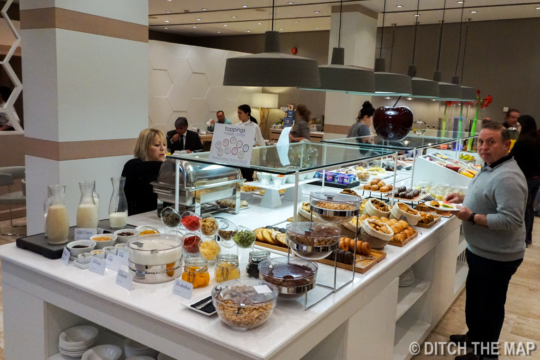 Breakfast buffet in Seville, Spain