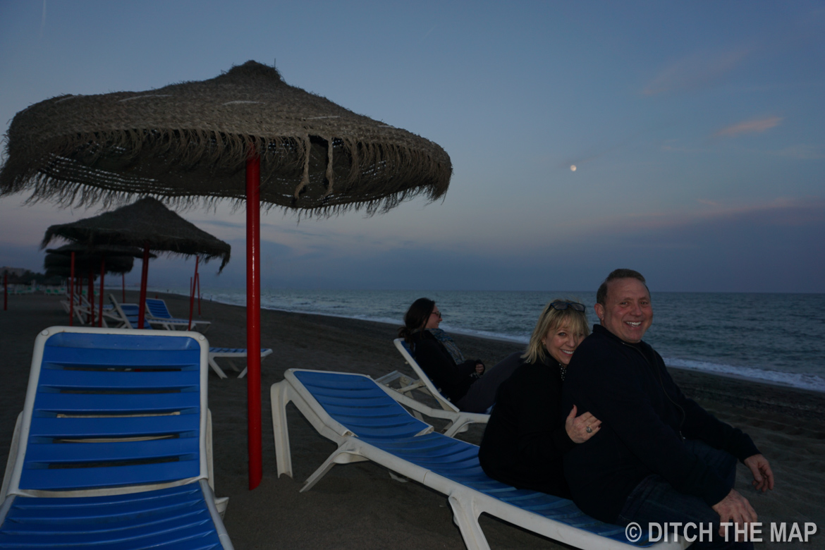 Watching the Sunset in Costa del Sol, Spain