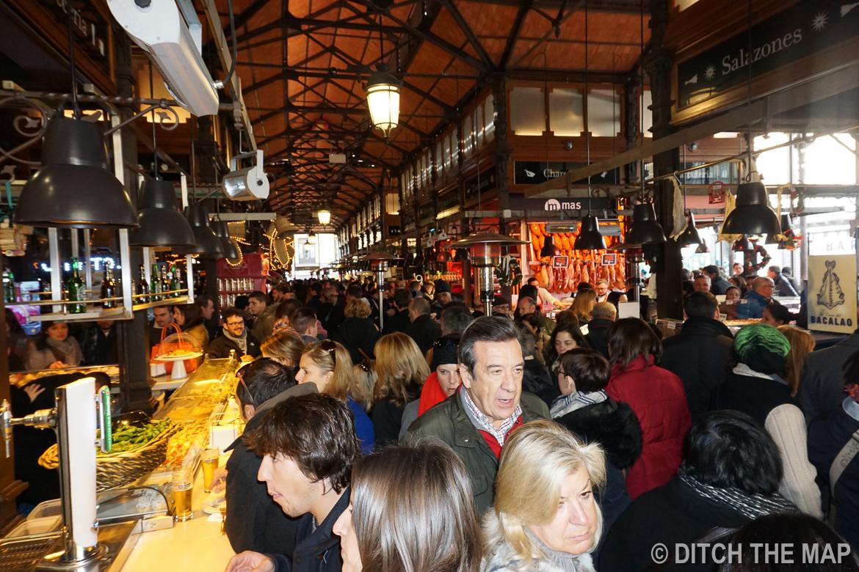 At San Miguel Market in Madrid, Spain