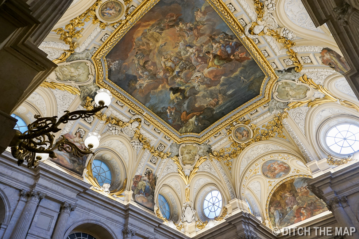 Inside the Royal Palace in Madrid, Spain