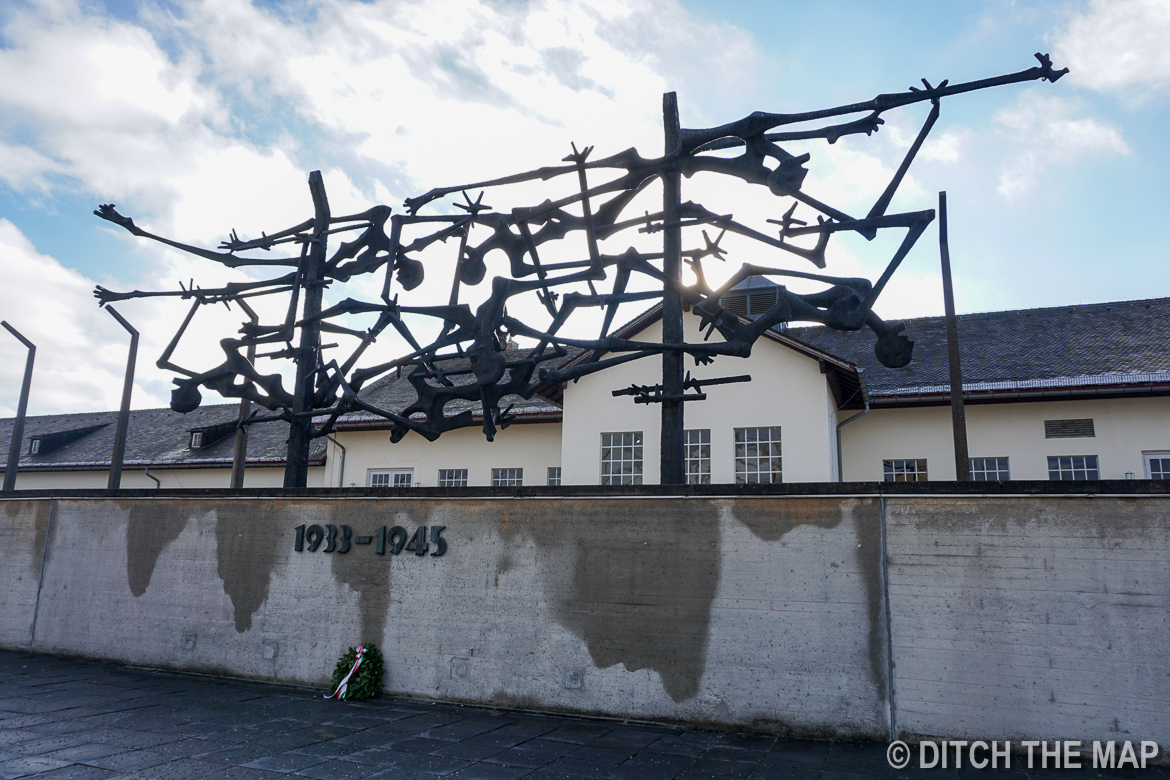 Memorial at Dachau Concentration Camp Just Outside Munich, Germany