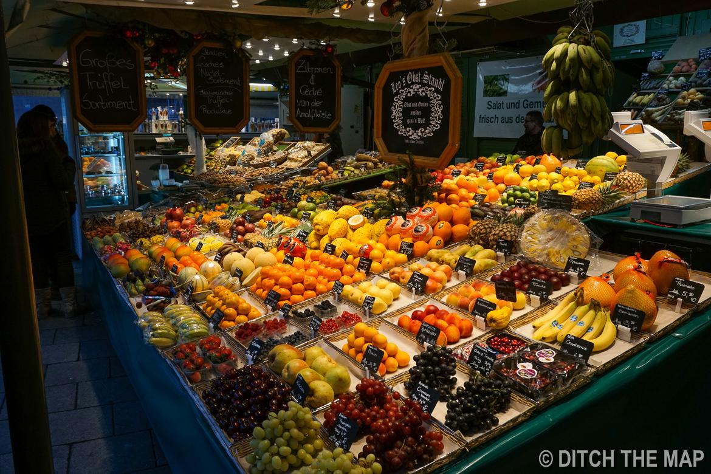 Viktualienmarkt Market in Munich, Germany