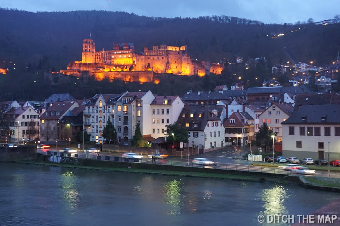 802 Year Old Castle in Heidelberg, Germany