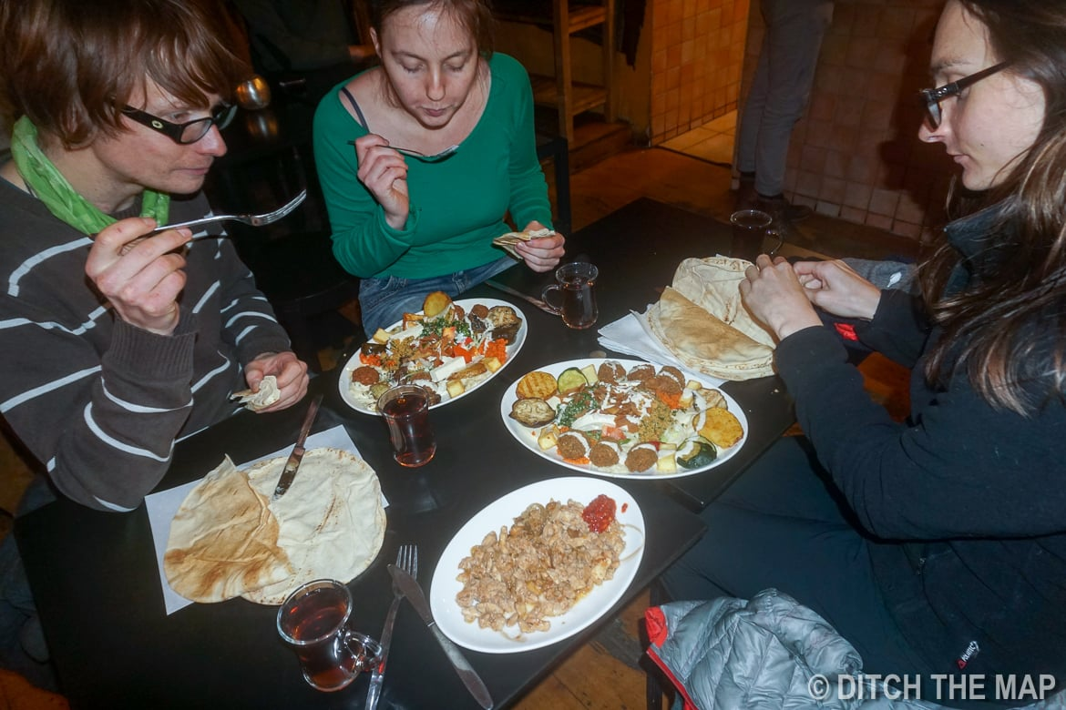 Enjoying Arabic Food with our Couchsurfing Hosts in Heidelberg, Germany