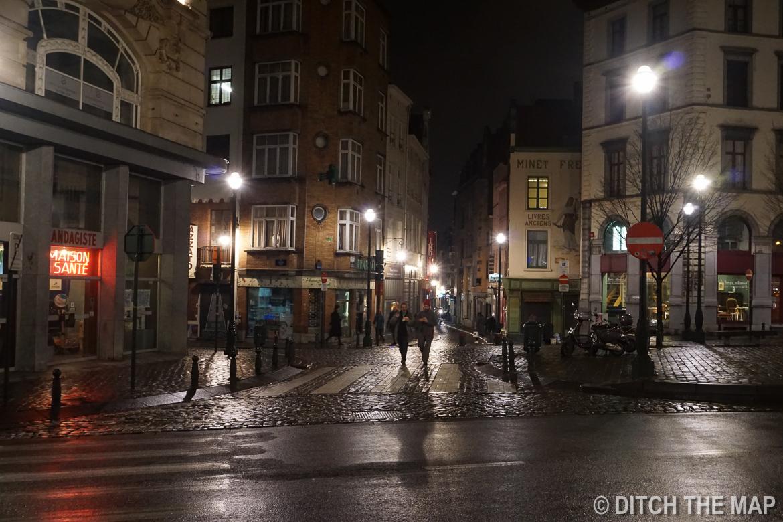 Walking the streets of Brussels, Belgium
