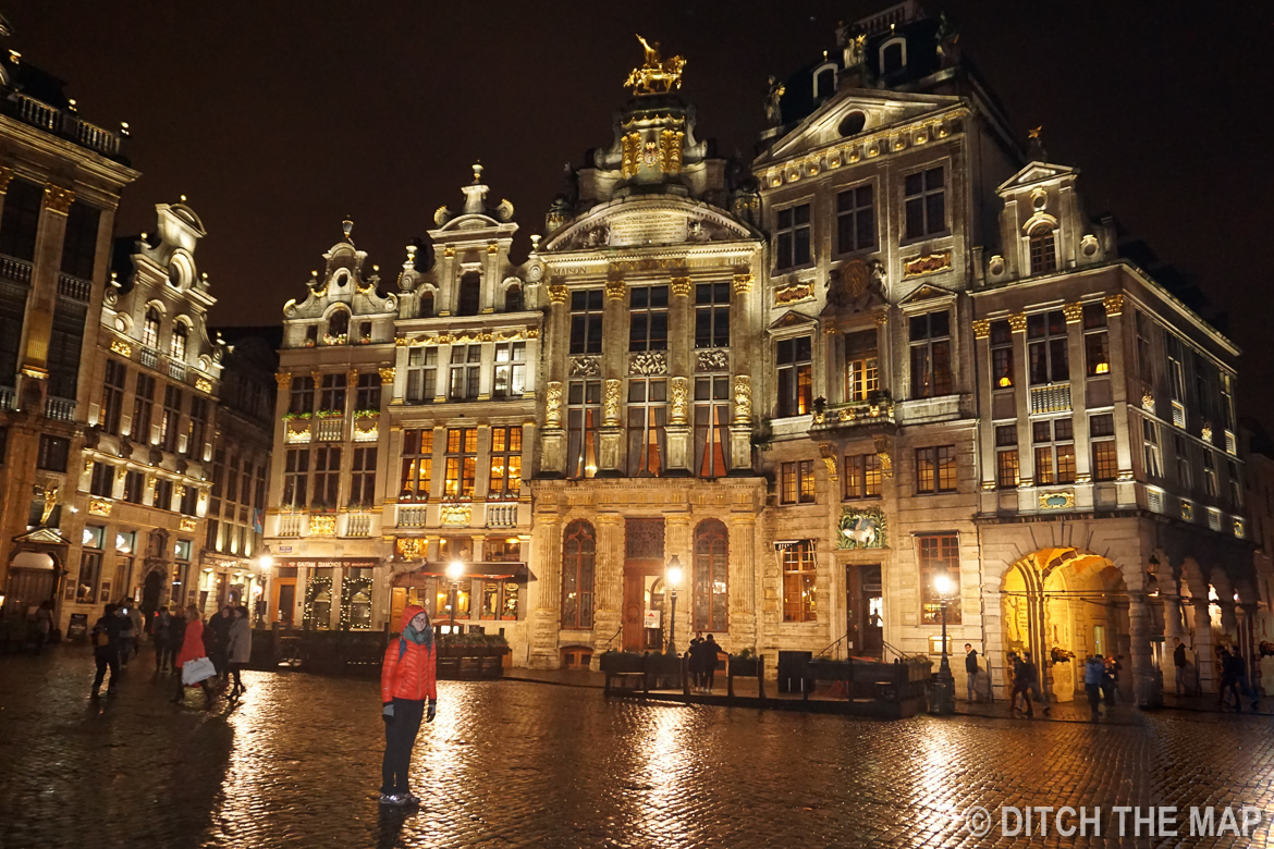 At the main square in Brussels, Belgium