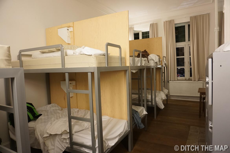 Our hostel room in Gent, Belgium