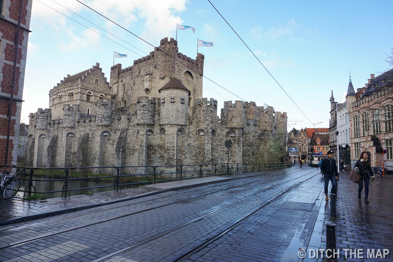 Castle in Gent, Belgium