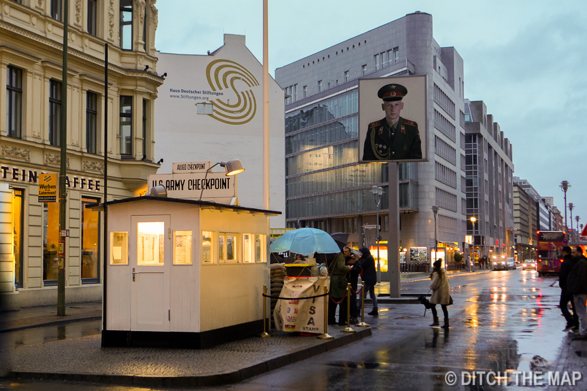 Checkpoint Charley in Berlin, Germany