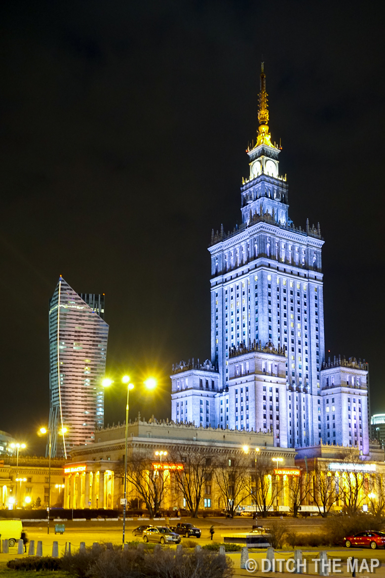 Science and culture building in Warsaw, Poland