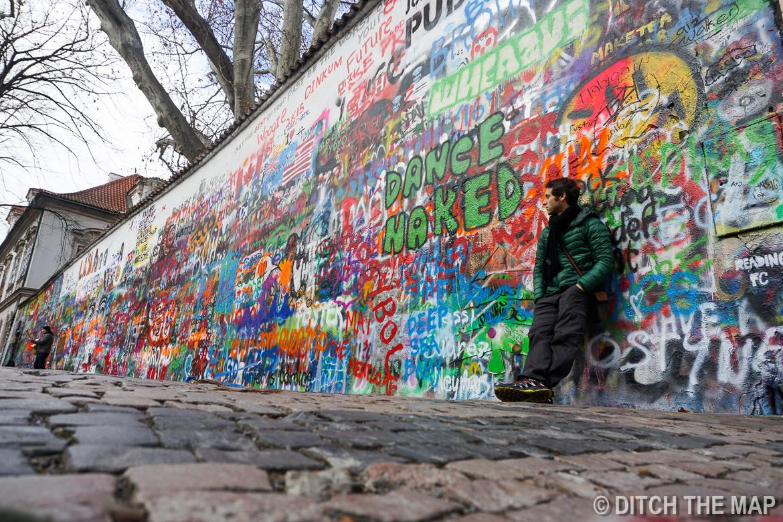 Lennon Wall in Prague, Czech Republic