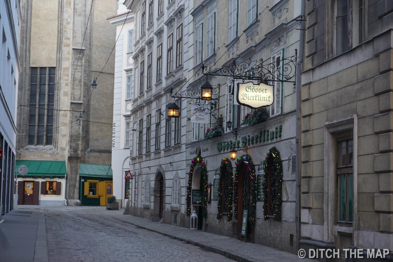 Gösser Bierklinik -  Having a beer in the oldest restaurant in Vienna, Austria