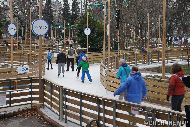 Iceskating rink in Vienna, Austria