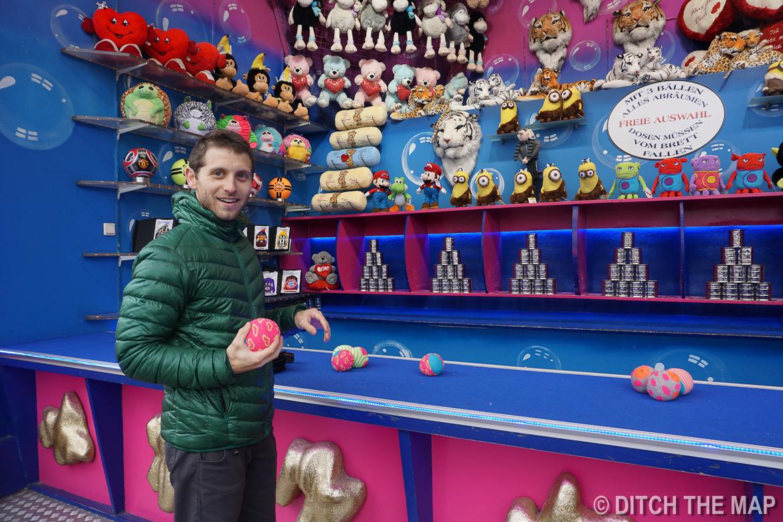 Enjoying a carnival in Vienna, Austria