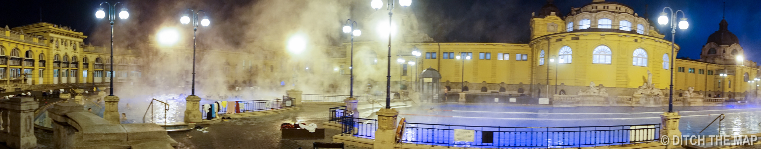 Széchenyi Thermal Bath at City Park in Budapest, Hungary