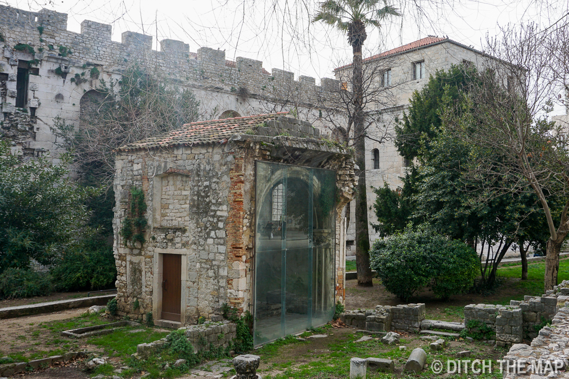 A Ruin we Passed on our way to our Hostel in Split, Croatia