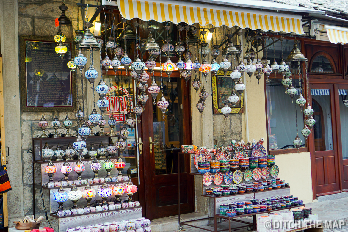 Bazaar in Old Town Mostar, Bosnia