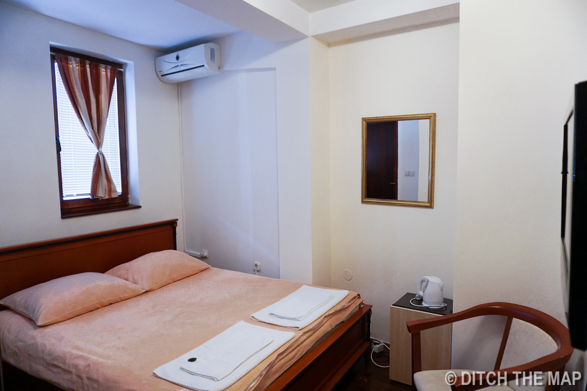 Our hotel room in Ohrid, Macedonia