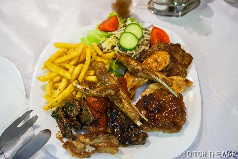 Dinner in Ohrid, Macedonia