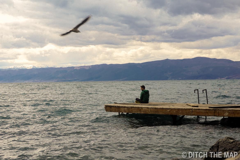 Taking in Lake Ohrid in Macedonia