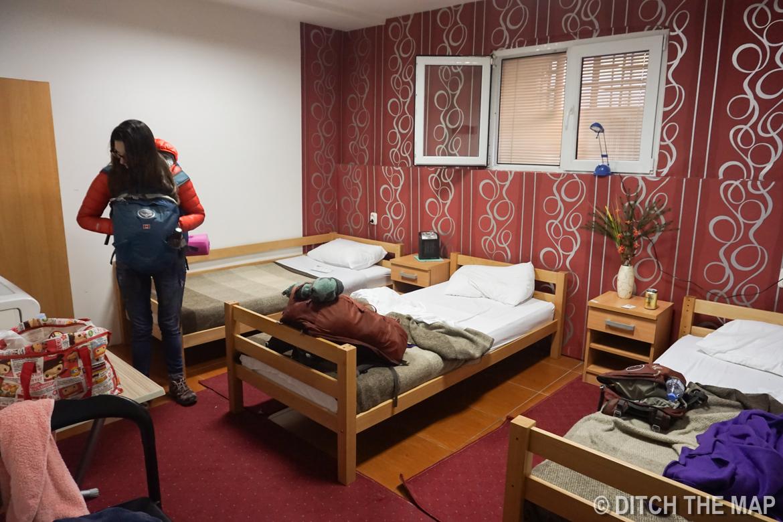 Our hostel in Skopje, Macedonia