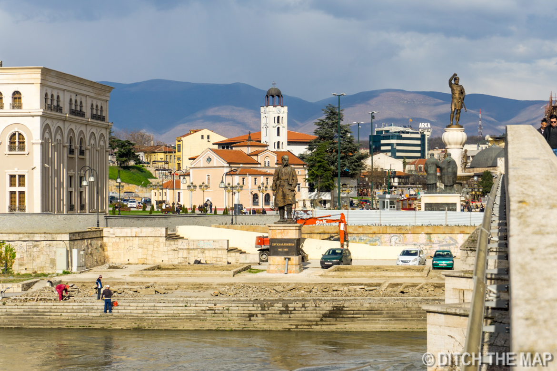 Arriving in  Skopje, Macedonia