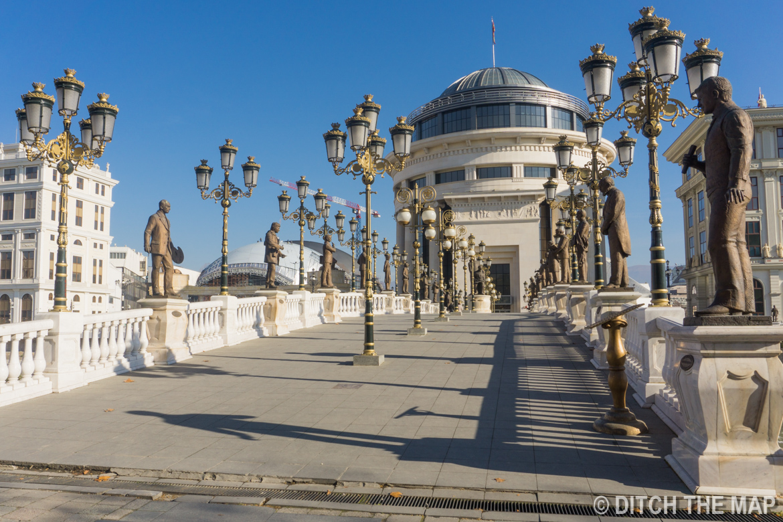 Bridge to Old Town in Skopje, Macedonia