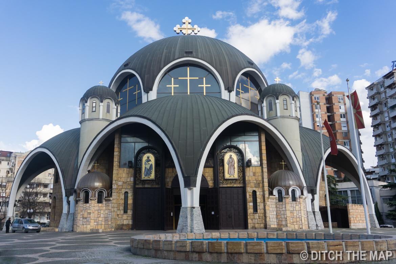 Saint Clement of Ohrid Church in Skopje, Macedonia