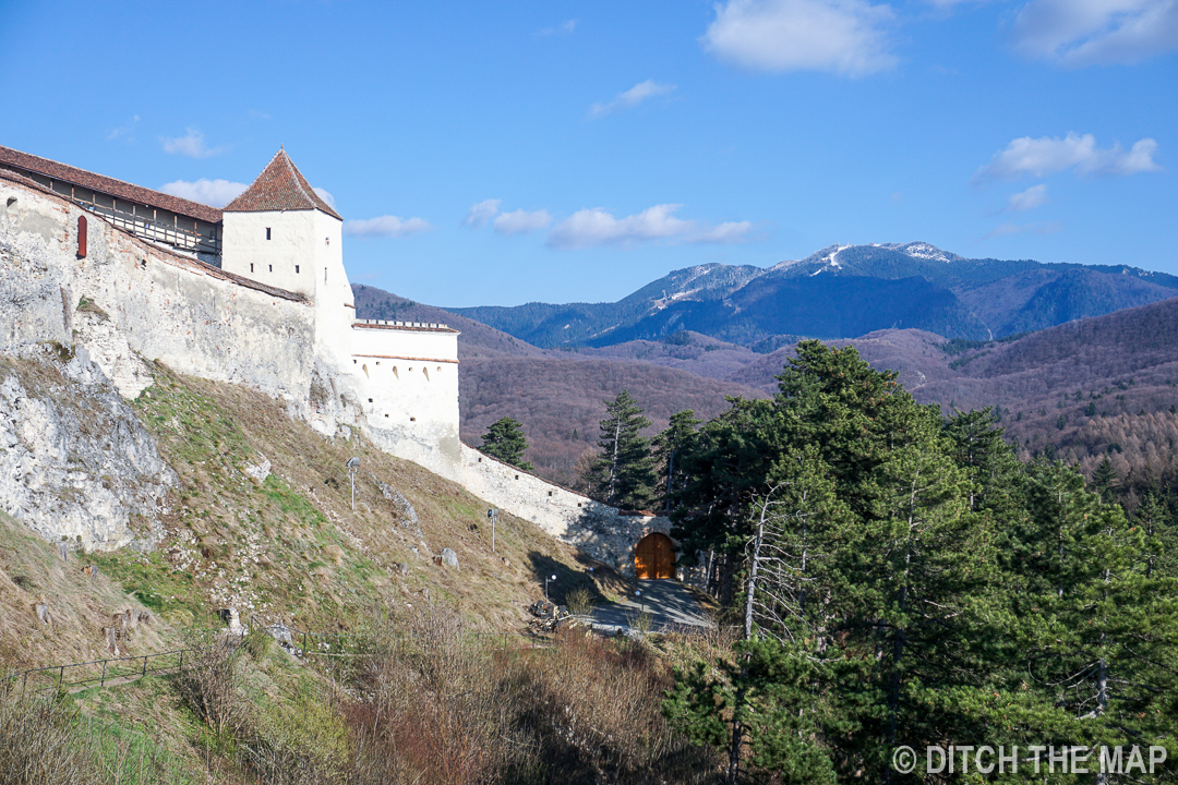 Outside  Râșnov Fortress in Romania