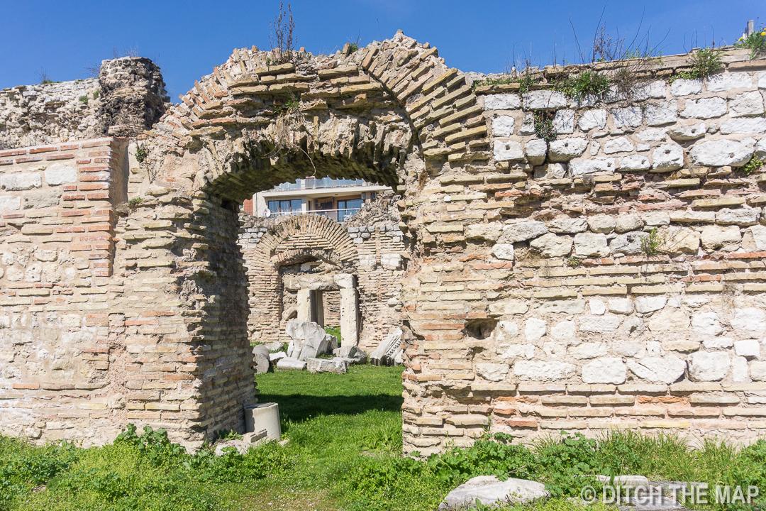 Roman Baths in Varna, Bulgaria