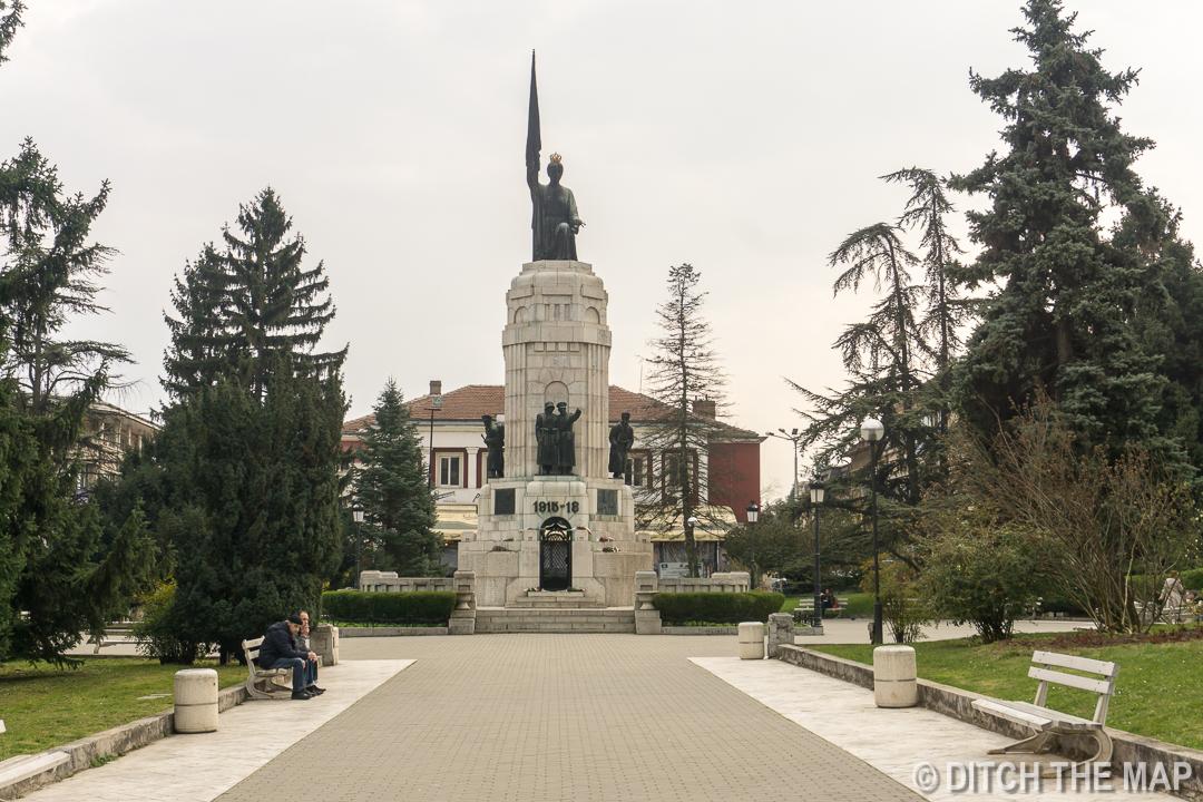 Center of town in  Veliko, Tarnovo, Bulgaria