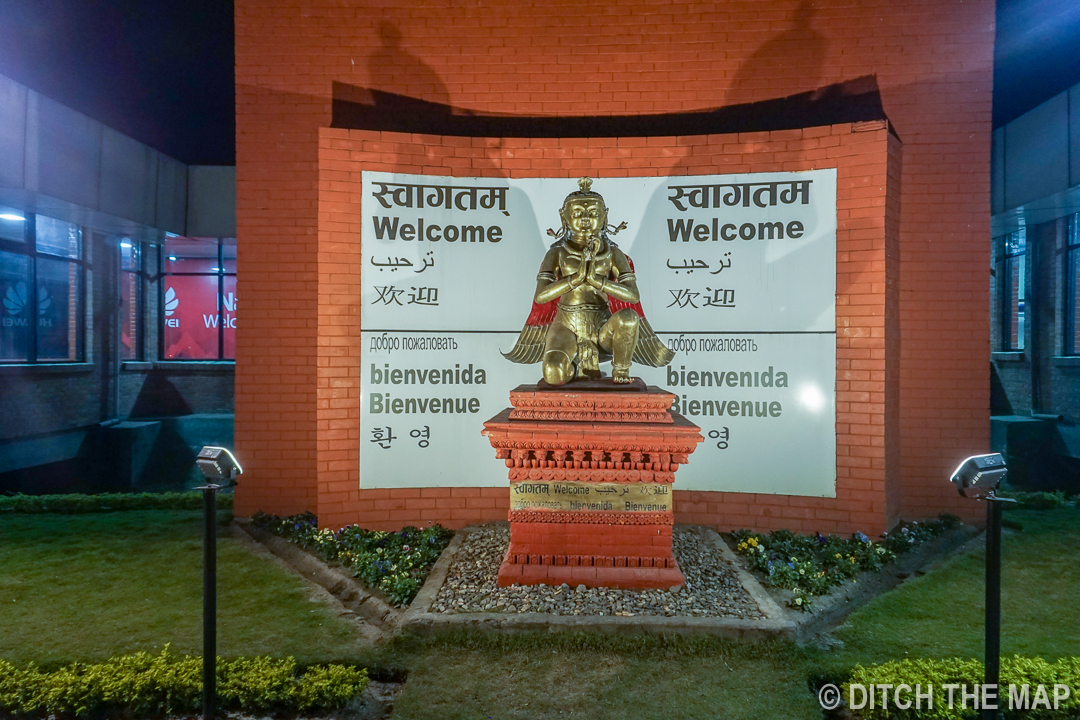 Arriving at Tribhuvan International Airport in Kathmandu, Nepal