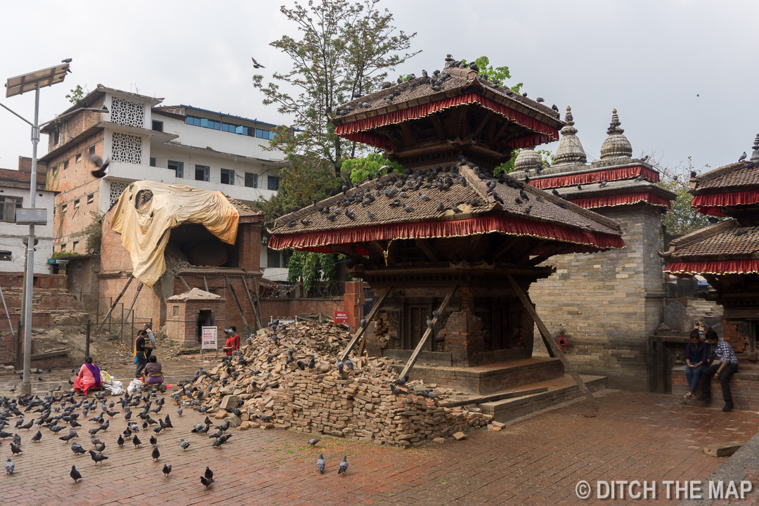 Durbar Square After the 2015 Earthquake in Kathmandu, Nepal