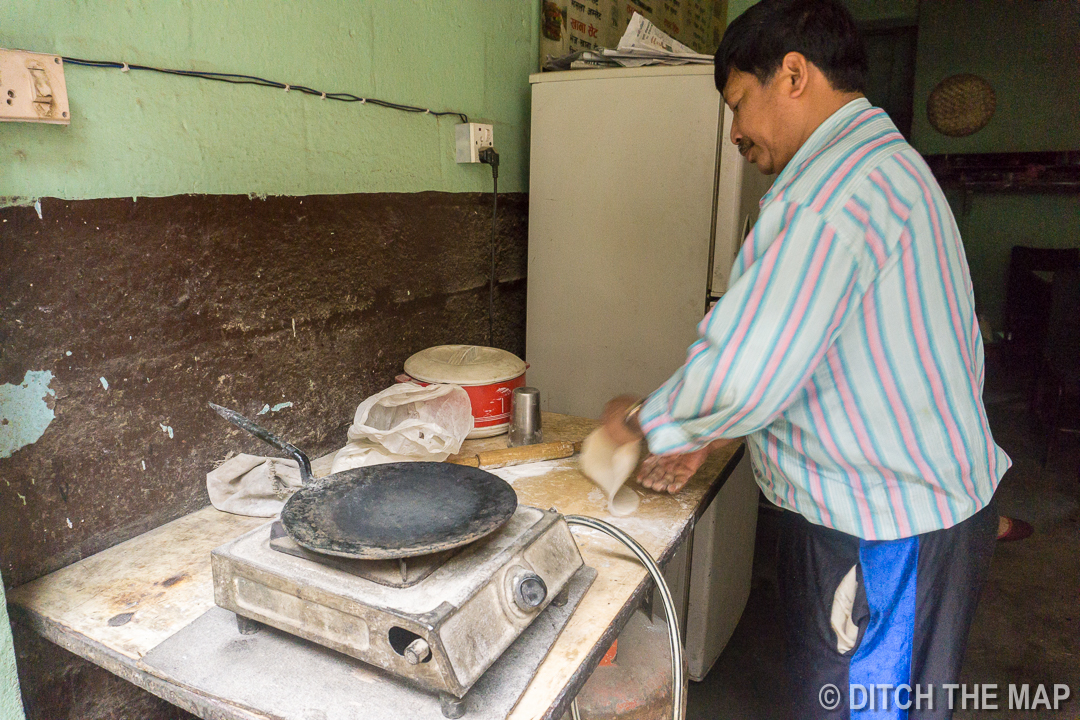 Street Food (Chapati) in Kathmandu, Nepal