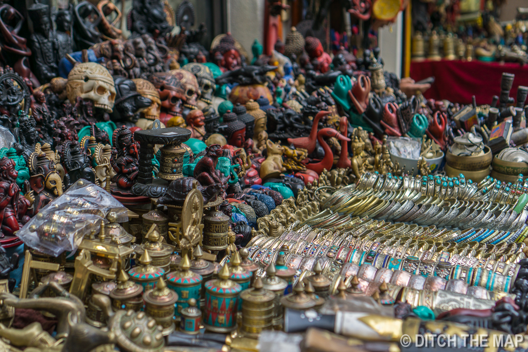 Trinkets on Thamel Street in Kathmandu, Nepal