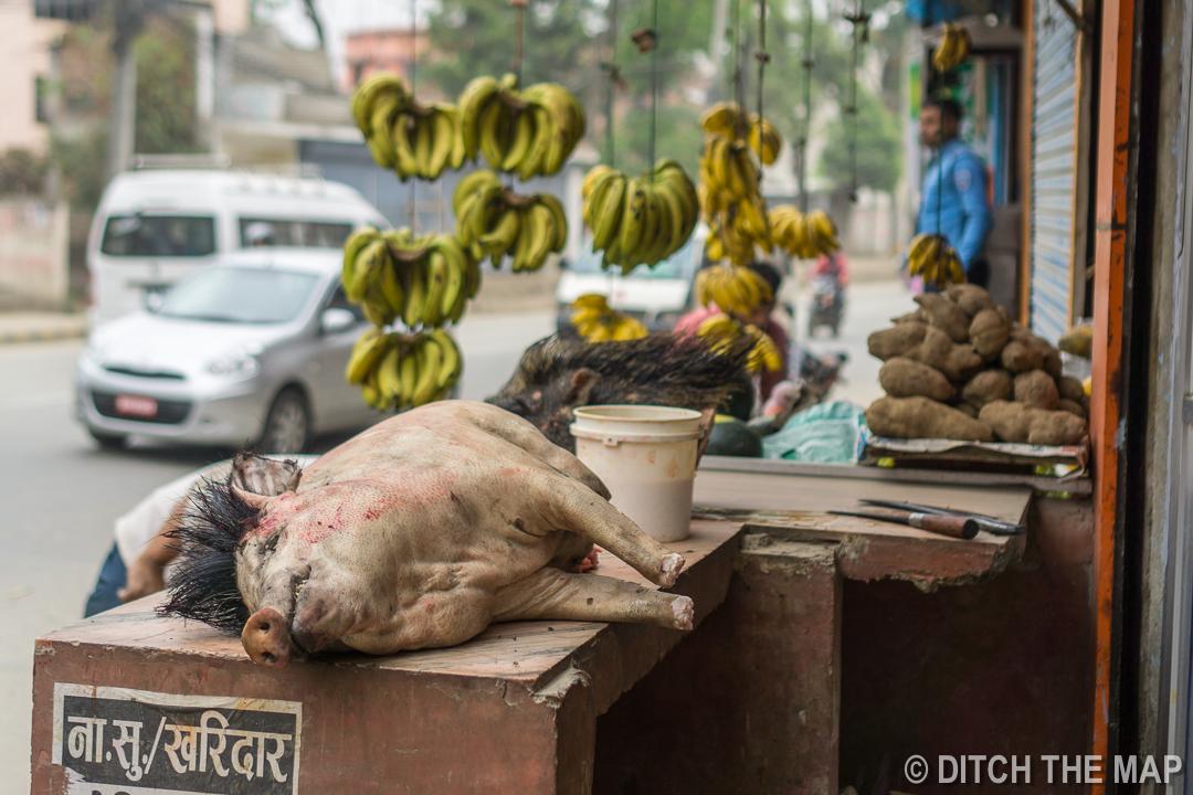 Street Meat in Kathmandu, Nepal