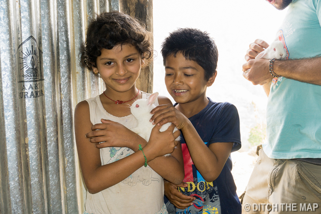 Children at our Workaway in Nepal