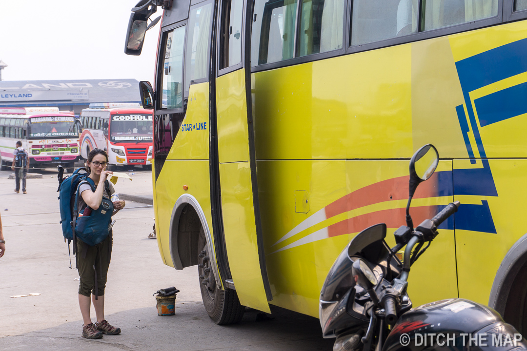 Our 17-hr Overnight Bus into India from Nepal