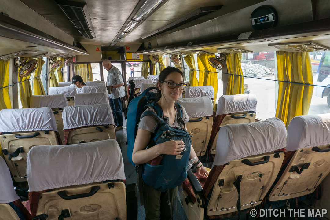 Inside Our 17-hr Overnight Bus into India from Nepal