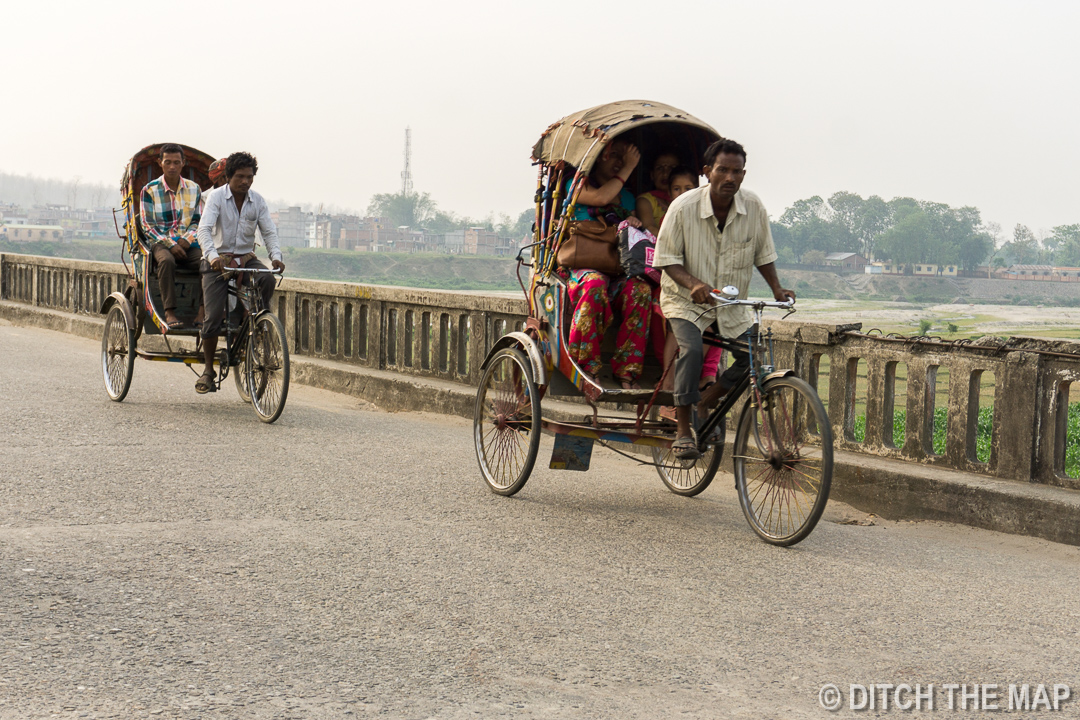 Crossing a long bridge into India