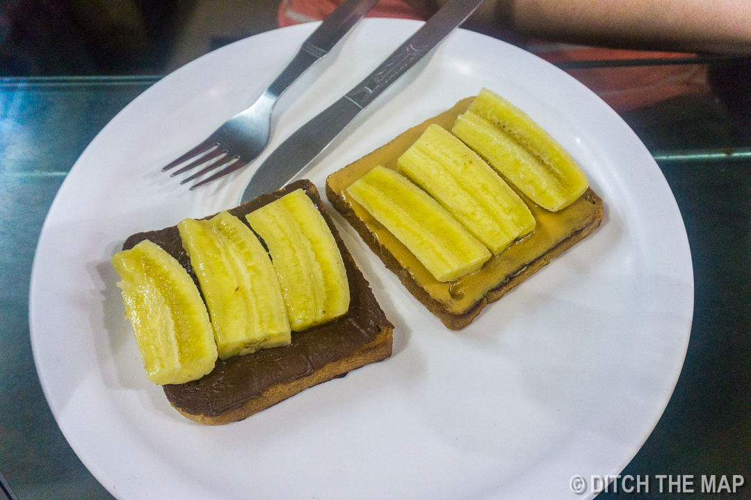 Sylvie orders a very specific type of banana toast in Kolkata, India