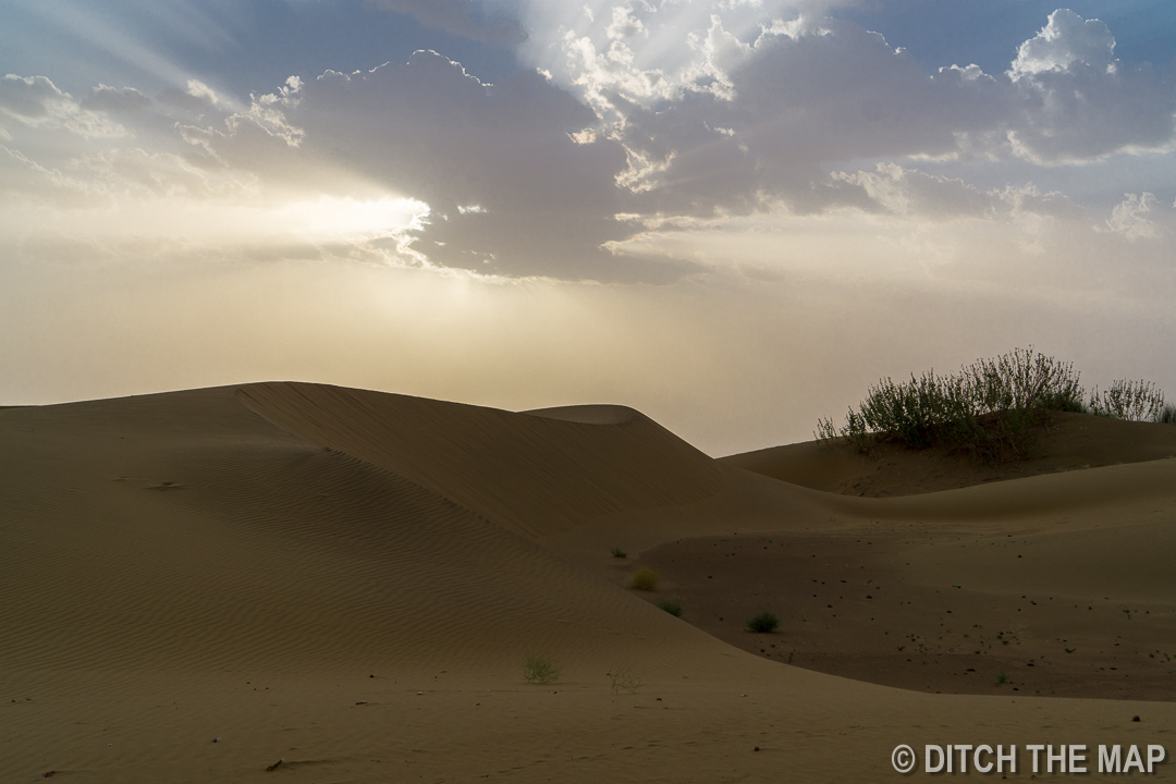 Watching the sunset in the Thar Desert in India