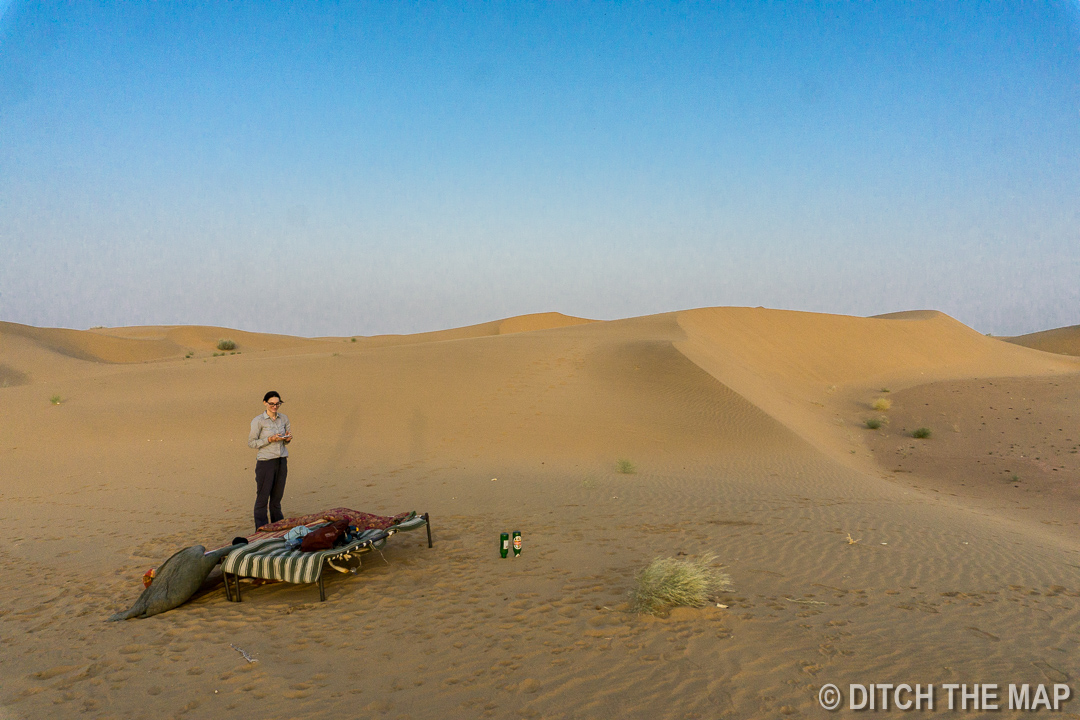 Our Sleeping Arrangements in the Thar Desert, India