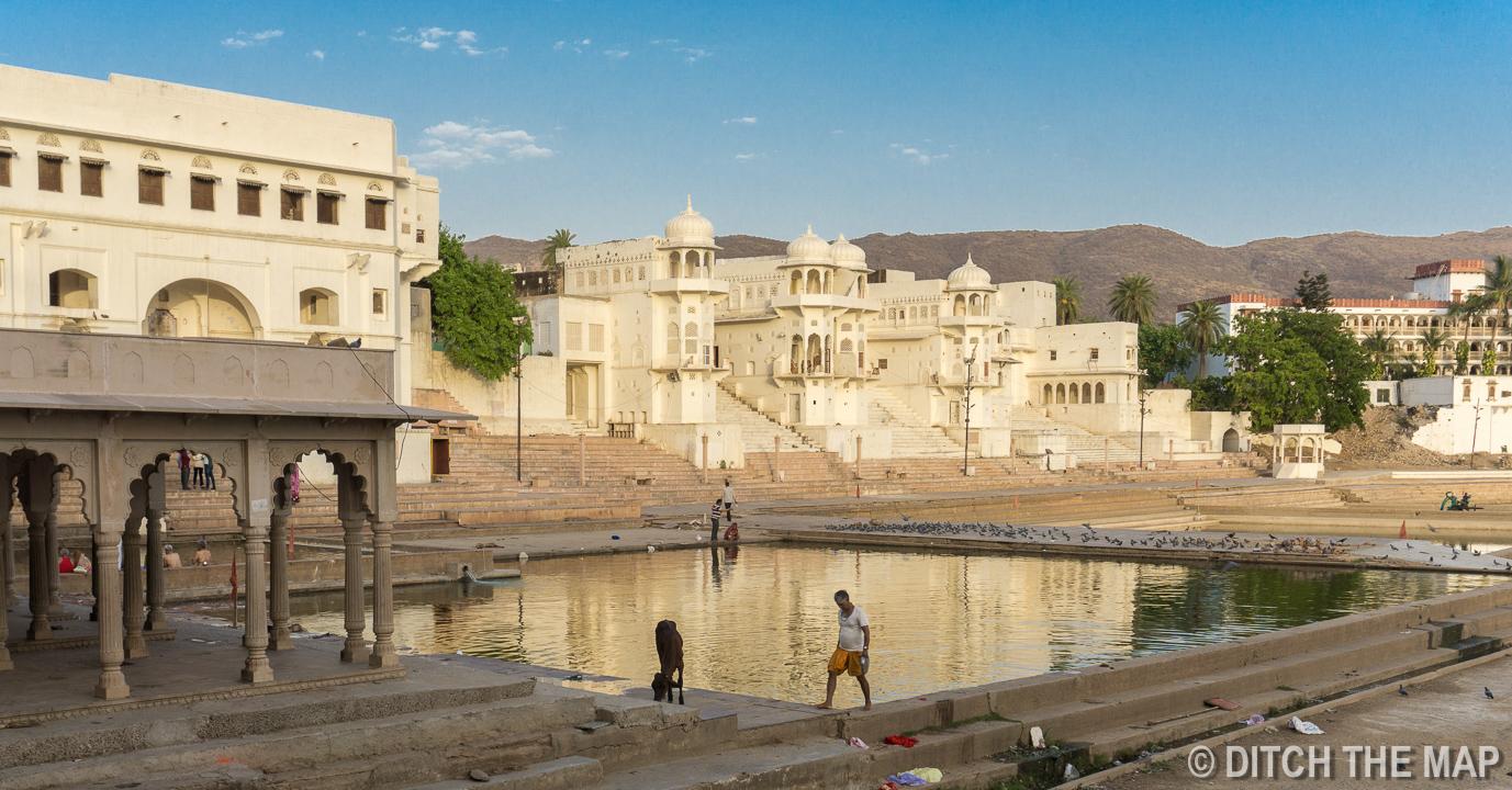 Lake in Pushkar, India