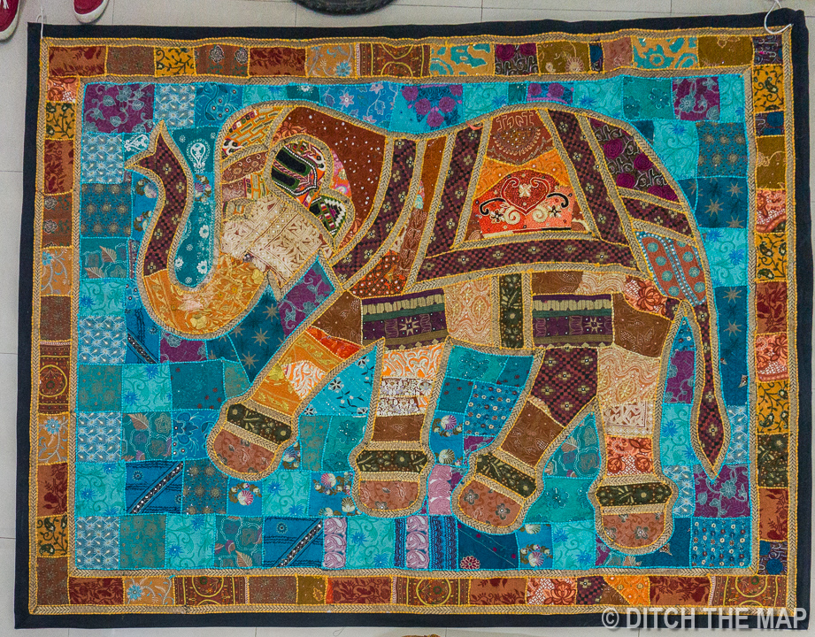 Large Patchwork Elephant we Bought in Udaipur, India