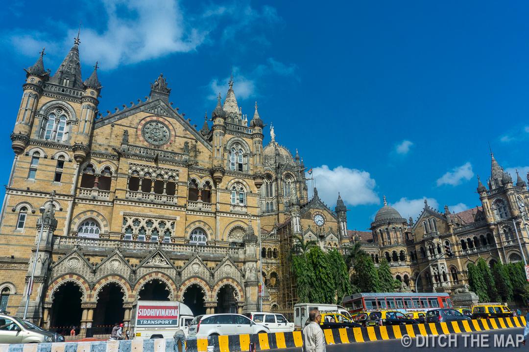 Railway Station in Mumbai, India